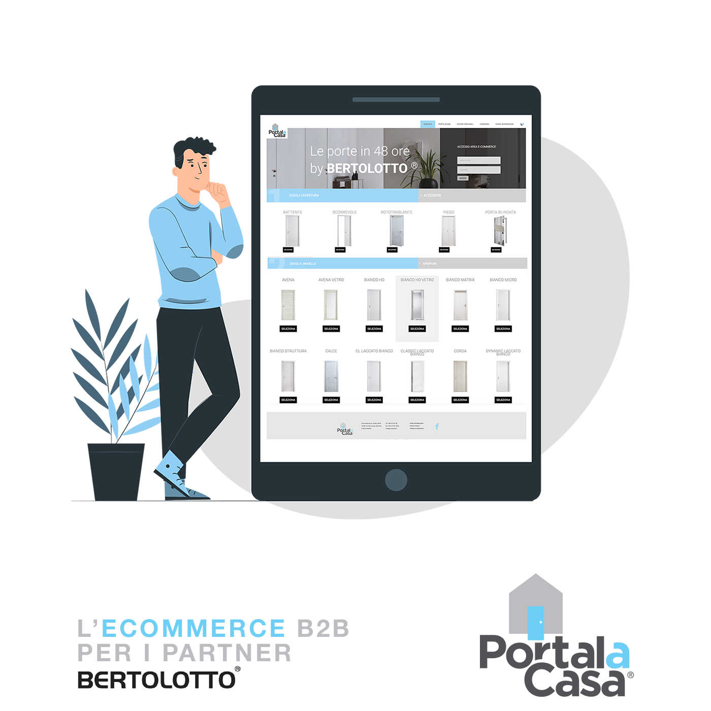 Portalacasa - L'e-commerce in 48 ore per i Partner Bertolotto®